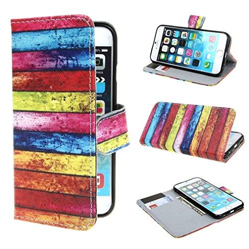 (15#) Rainbow Wall Style Design Magnetisch Beutel PU Leder Stehen Flip Tasche Hülle Schale Schutzhülle Case Cover für Apple iPhone 6 4.7 Zoll