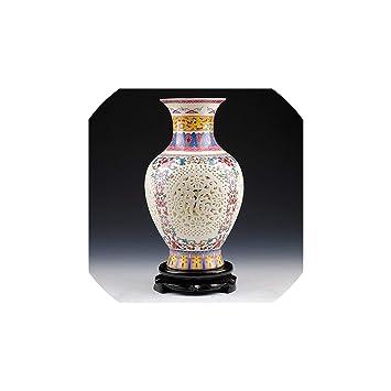 Amazon.com: Jarrón de cerámica de estilo chino antiguo ...