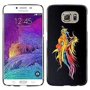 Caucho caso de Shell duro de la cubierta de accesorios de protección BY RAYDREAMMM - Samsung Galaxy S6 SM-G920 - Colorful Asian Dragon