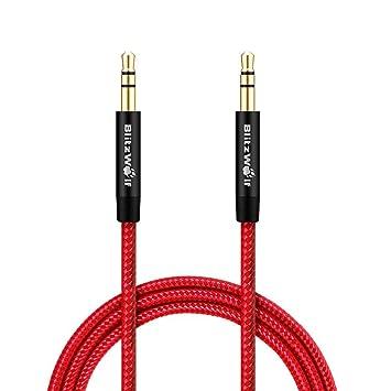 Cable de Audio,BlitzWolf Aux Cable 3.5mm/1m para Coche, Iphone,