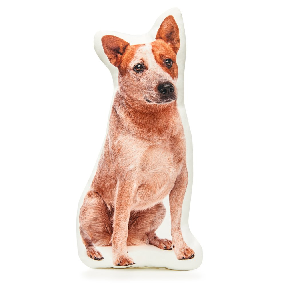 Cushion Co - Red Heeler Dog Shaped Pillow 16'' x 12''
