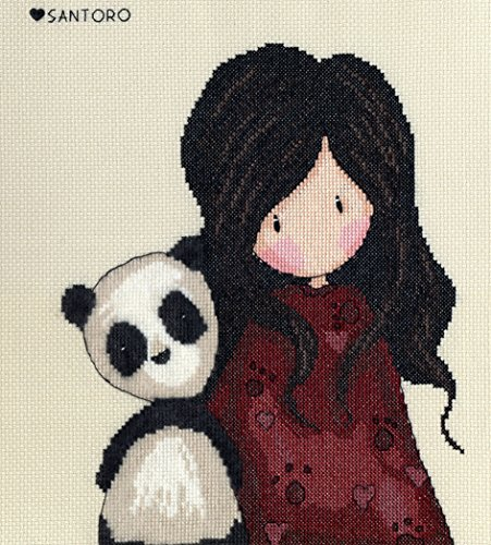 Bothy Threads Gorjuss Panda Girl Cross Stitch Kit