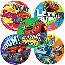 Children's Party Favor Stickers - Large Stickers - Box of 100 (Blaze and the Monster Machines Stickers)