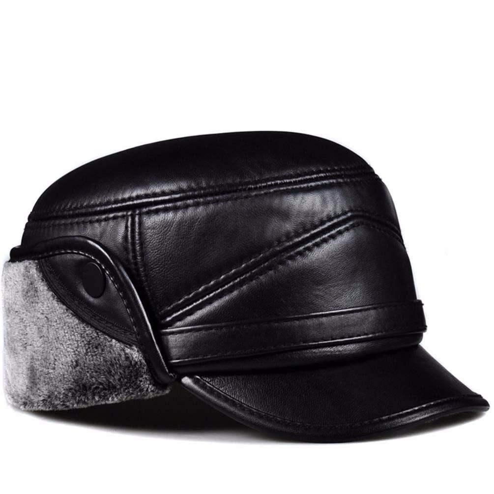 YISANLING-PM Herrenmütze für Herren im Herbst und Winter mit mittlerem Alter, warme Mütze, Flache Mütze aus Baumwolle B07M8W9Q2Y Cricket Bestseller