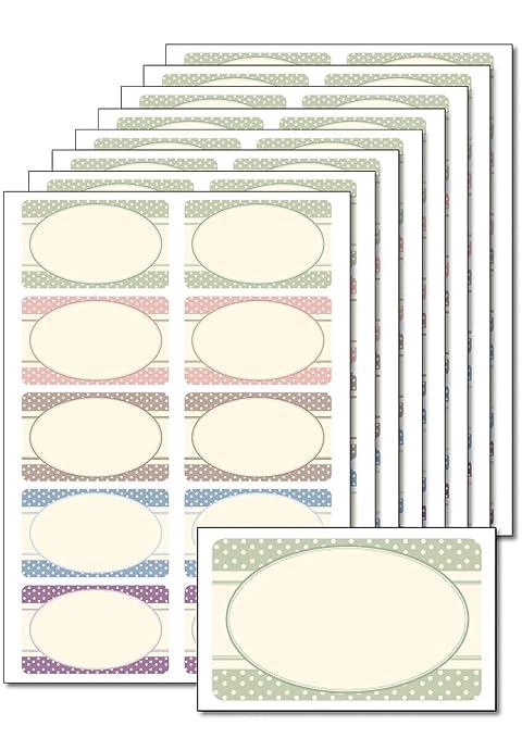80 etiquetas puntos Vintage para imprimir, imprimir, DIN A5, autoadhesivas,