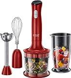 Russell Hobbs 24700-56 Desire 3'ü 1 Arada El Blender'ı, 700ml, Paslanmaz Çelik/Plastik, Kırmızı
