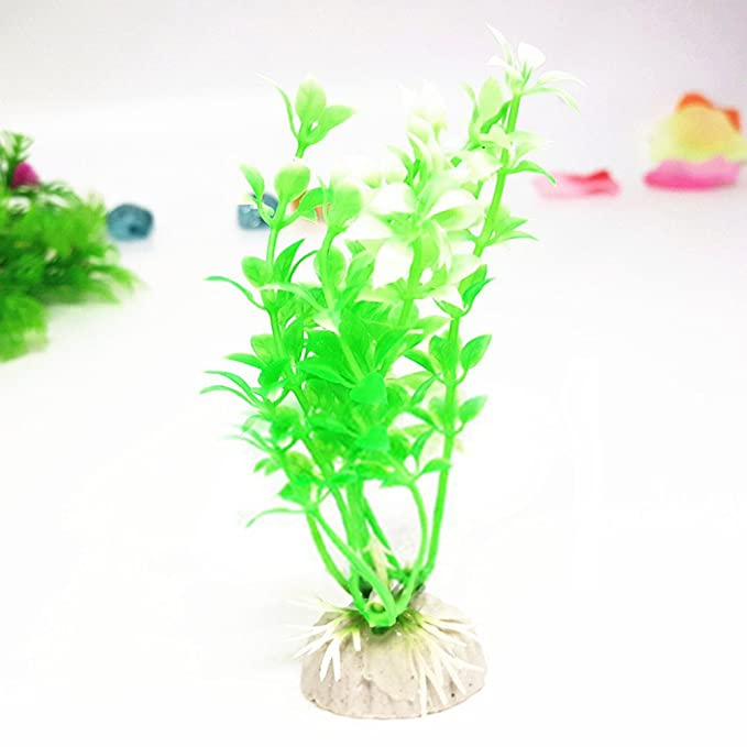 Laat planta acuática artificial Decoration para Acuario - pecera de 10pcs: Amazon.es: Hogar