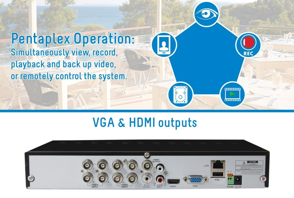 Amazon Com Lorex Lh03085gc8b 8 Channel 500gb Eco