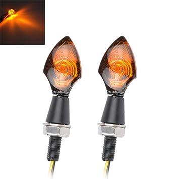 TUINCYN - Bombilla LED para Motocicleta con Forma de Flecha, Lente ámbar, Metal,