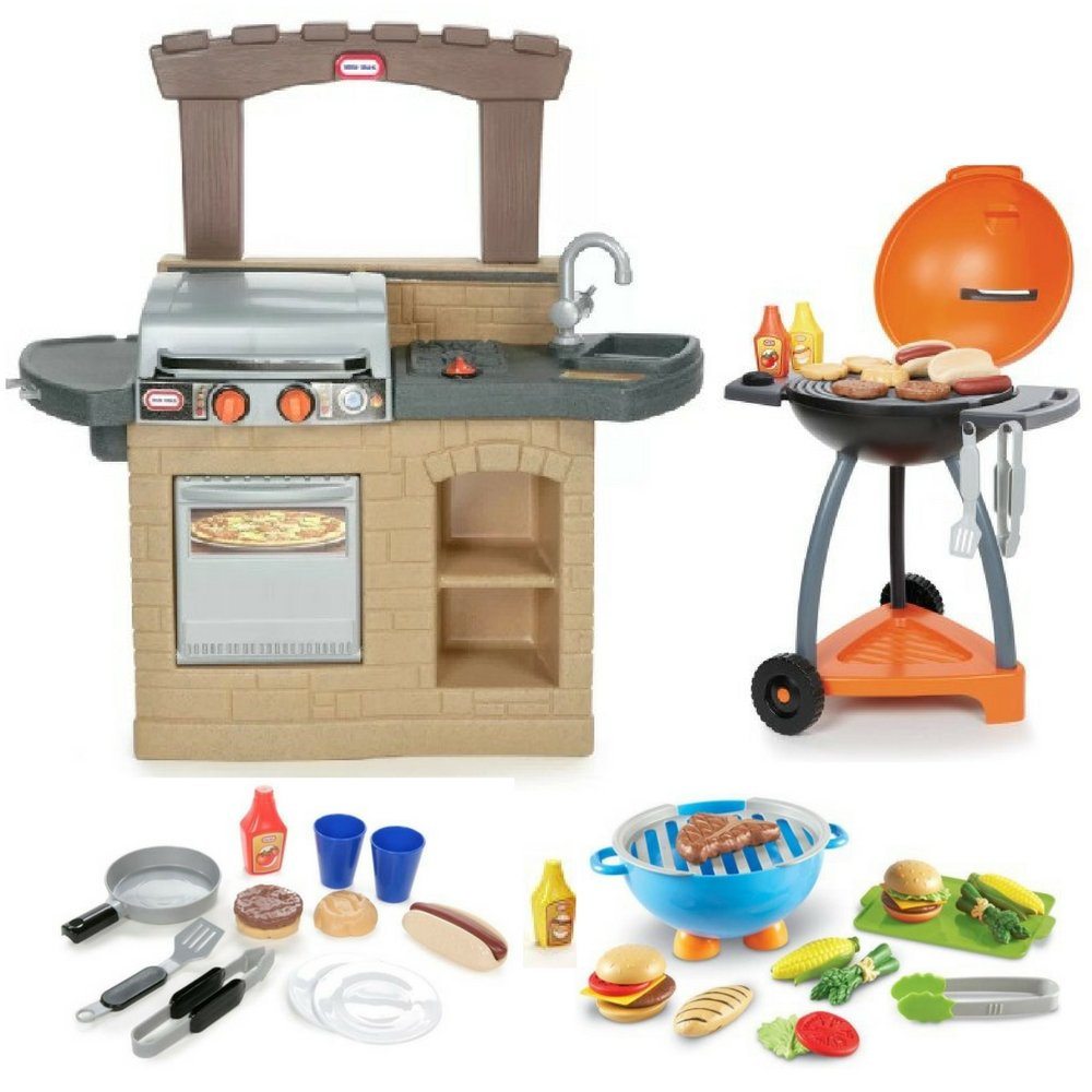 Kids Outdoor Barbeque, Sizzle & Serve Grill and Learning Resources ...
