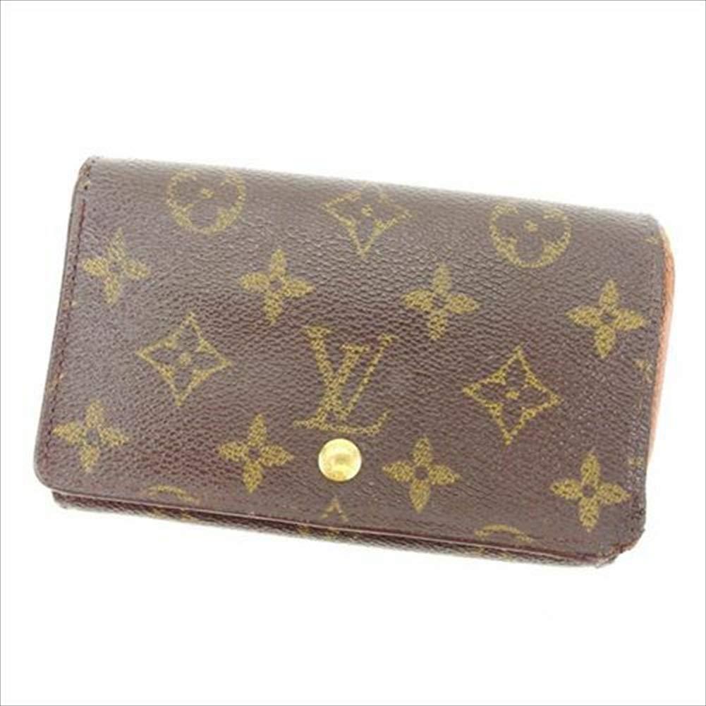 ルイヴィトン Louis Vuitton L字ファスナー財布 二つ折り メンズ可 ポルトモネビエトレゾール M61730 モノグラム 中古 T15321   B07R67W95C