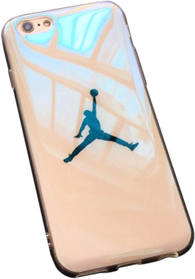 Flyman Jordan - Carcasa para iPhone 7 6 y 6S, Color Azul: Amazon ...