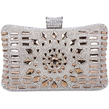 Tanpell Women's Geometric Diamante Evening Banquet Party Clutch Bags