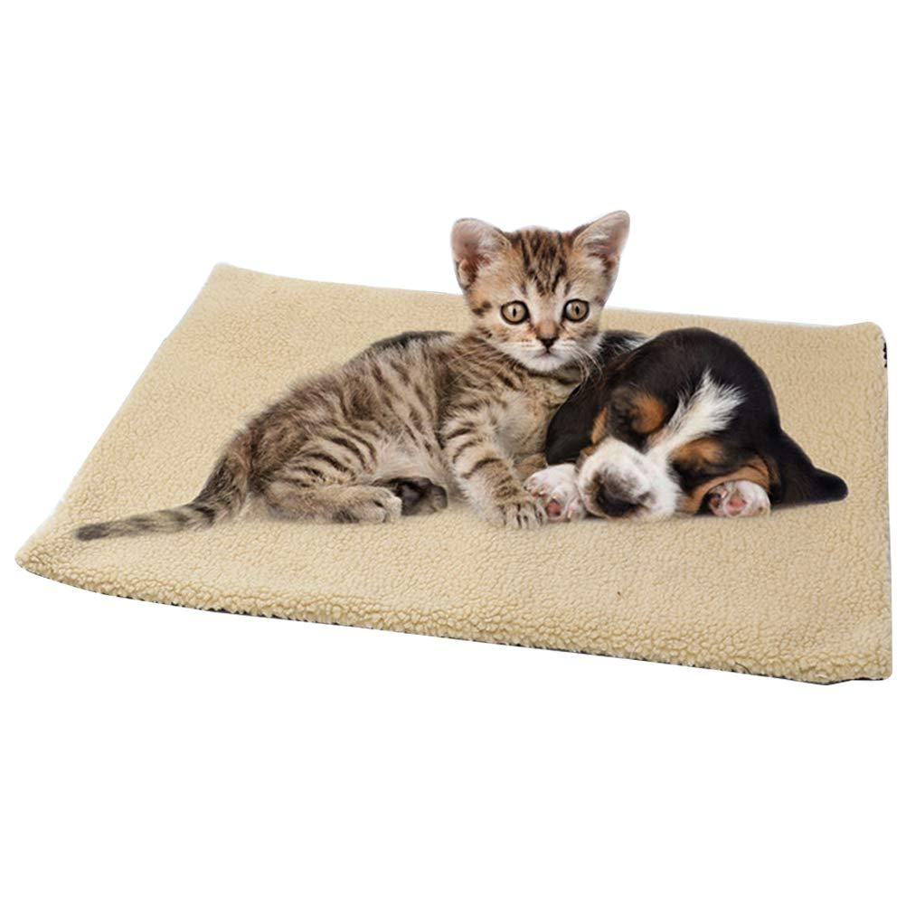 Tappetino Termico per Animali Domestici Cuscino Riscaldato per Animali Domestici Caldo Accogliente per Lettini per Cani e Gatti Coperta per Animali Domestici Autoriscaldante Tappetino Riscaldante