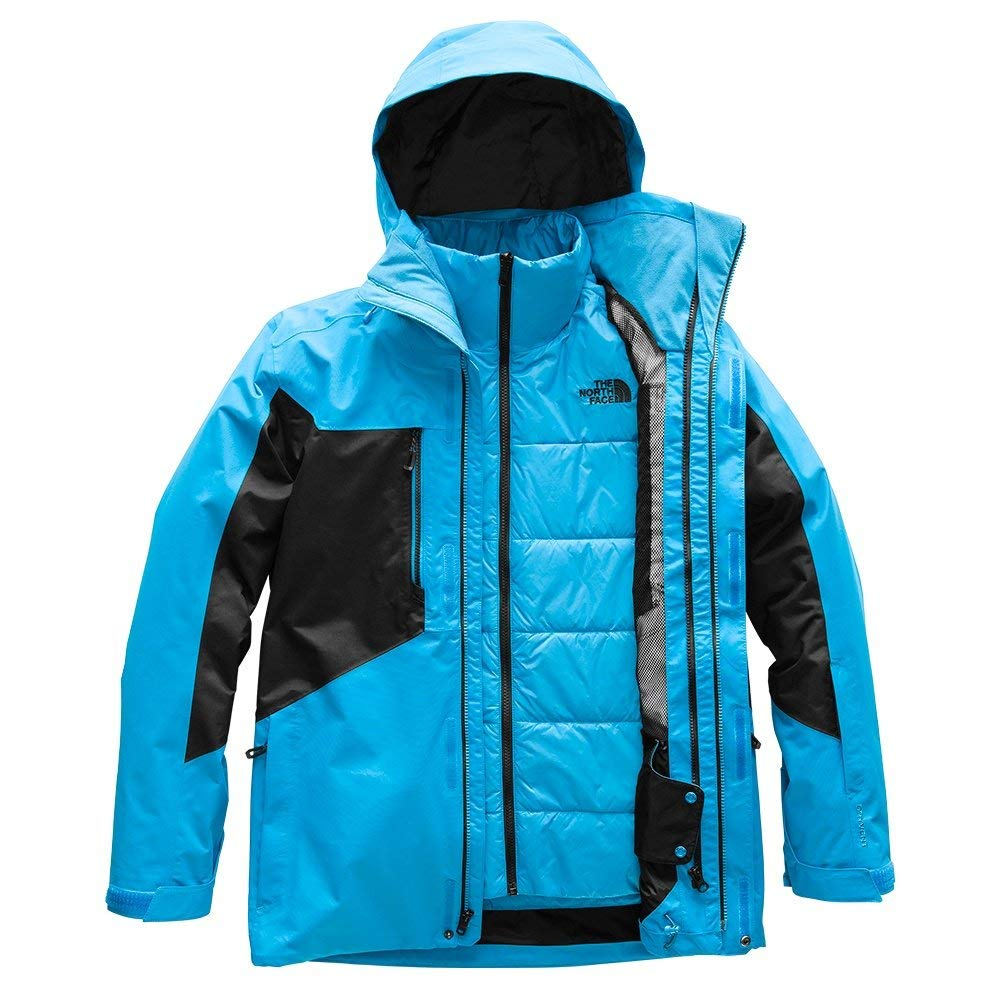 b6e1e4116f Amazon.com  The North Face Men s Clement Triclimate Jacket - Hyper Blue    TNF Black - S  Clothing