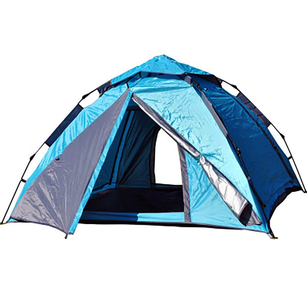 MEETy Camping Zelt 3-4 Personen Pop up Zelte Outdoor Wasserdicht [2 Türen] Automatische Große Familie Zelt Shelter mit Tragetasche für Sport Backpacking Picknick Wandern Reisen Strand B07PM72MCV Zelte Authentische Garantie