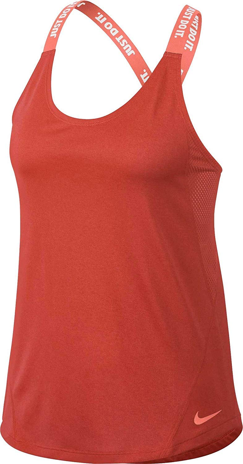 NIKE Women's Elastika Dry Training Tank Top (Rush Coral,Small) by NIKE