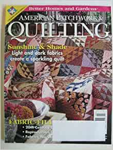 Better Homes And Gardens American Patchwork Quilting February 2001 Books