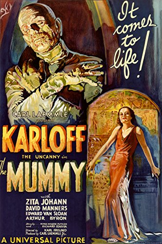 The Mummy Classic Horror Movie Poster - Boris Karloff Print (Horror Classics Poster)