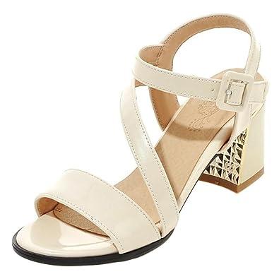 TAOFFEN Damen Open Toe Sandalen Schuhe mit Absatz