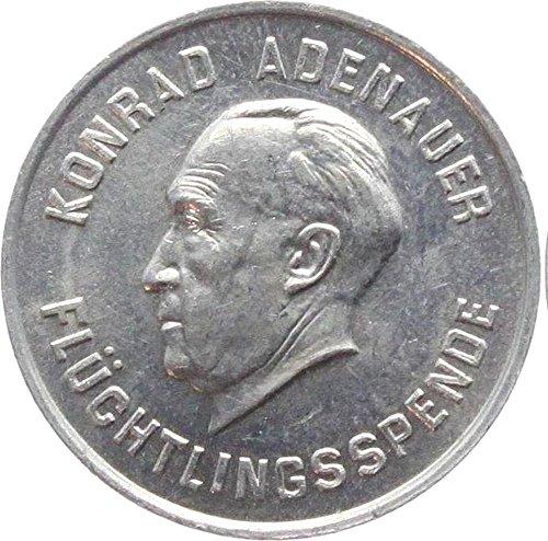 1953 DE RARE 1953 TOKEN for DONATION to ADENAUER