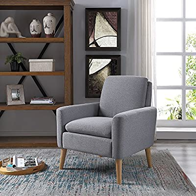 Amazon.com: Lohoms Modern Accent Fabric Chair Single Sofa Comfy ...