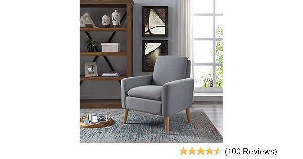Amazon.com: Lohoms Modern Accent Fabric Chair Single Sofa Comfy ...