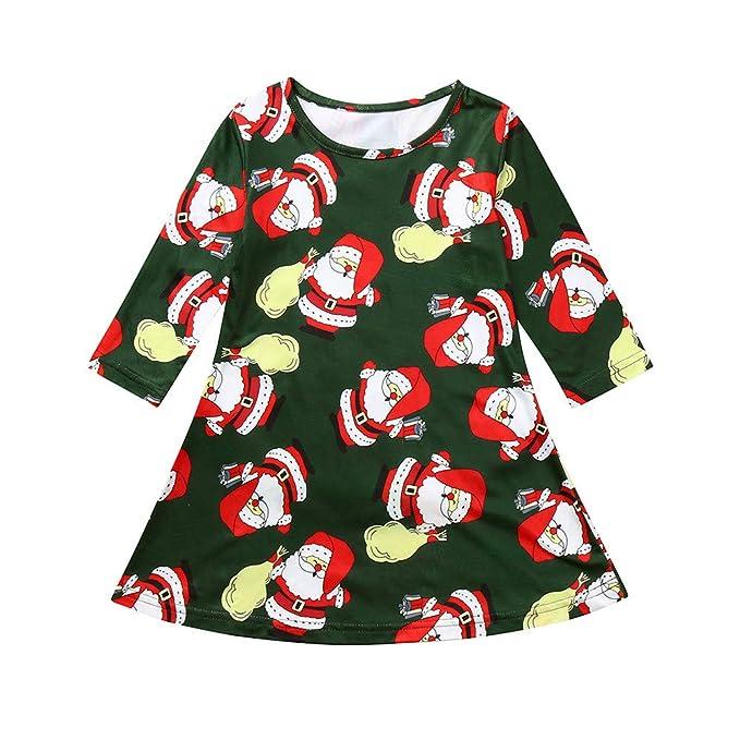 Vestido de Fiesta Navidad Regalo para Bebé Niñas Mangas Largas Otoño 2018 Moda PAOLIAN Ropa para