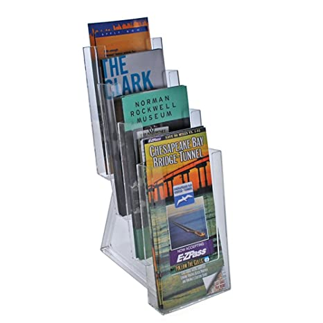 Azar 252306 Four Tier Tri Fold Size Brochure Holder For Counter 2