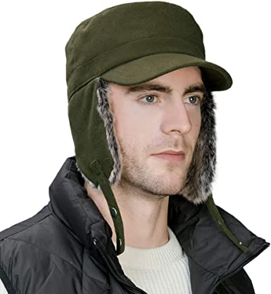MENS CAMO FLEECE TRAPPER HAT VERY WARM SIZE 59CM L  NEW
