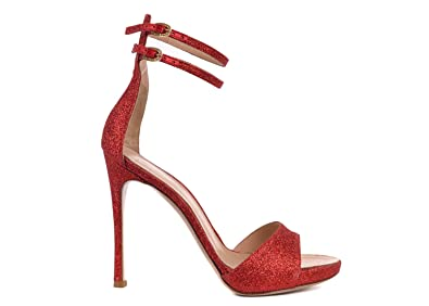 a6ef40b26cf33 Image Unavailable. Image not available for. Color: Gianvito Rossi Womens Red  Glitter Ankle Strap ...