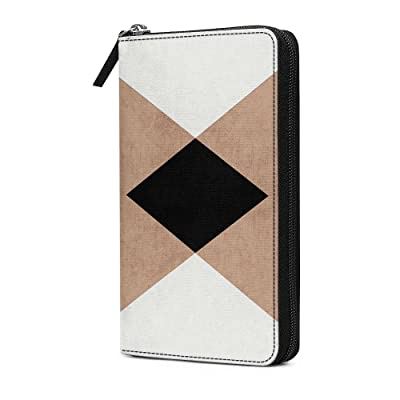DailyObjects Natural Cream and Black Triangles Travel Organiser Passport Wallet