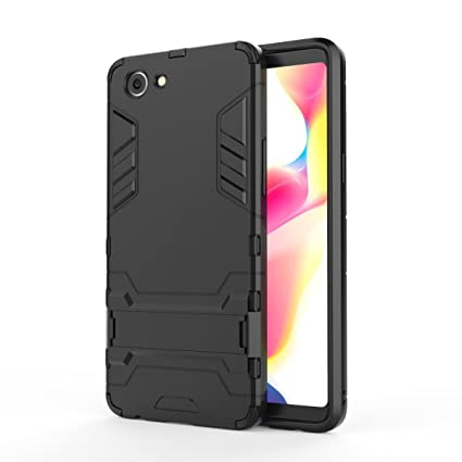 finest selection 0b84a 50d05 TARKAN Heavy Duty Shockproof Armor Kickstand Back Case Cover for Oppo  Realme 1/Real Me 1 (Black)
