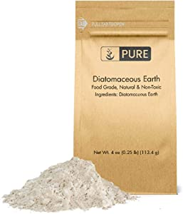 Pure Diatomaceous Earth (4 oz.) 100% Pure Freshwater Amorphous Silica, Eco-Friendly Packaging