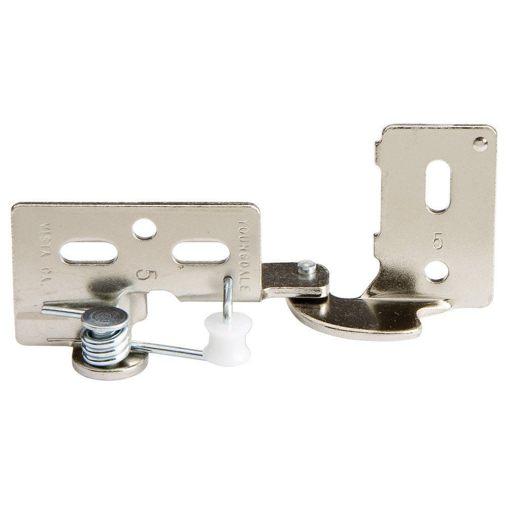 3 8 Offset Cabinet Hinges Snap Closing Semi Concealed Hinges Antique Brass Pair 3 8