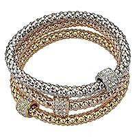 Long Way 3pcs Gold Silver Plated Charm Bracelet for Women Luxury Multilayer Bracelet