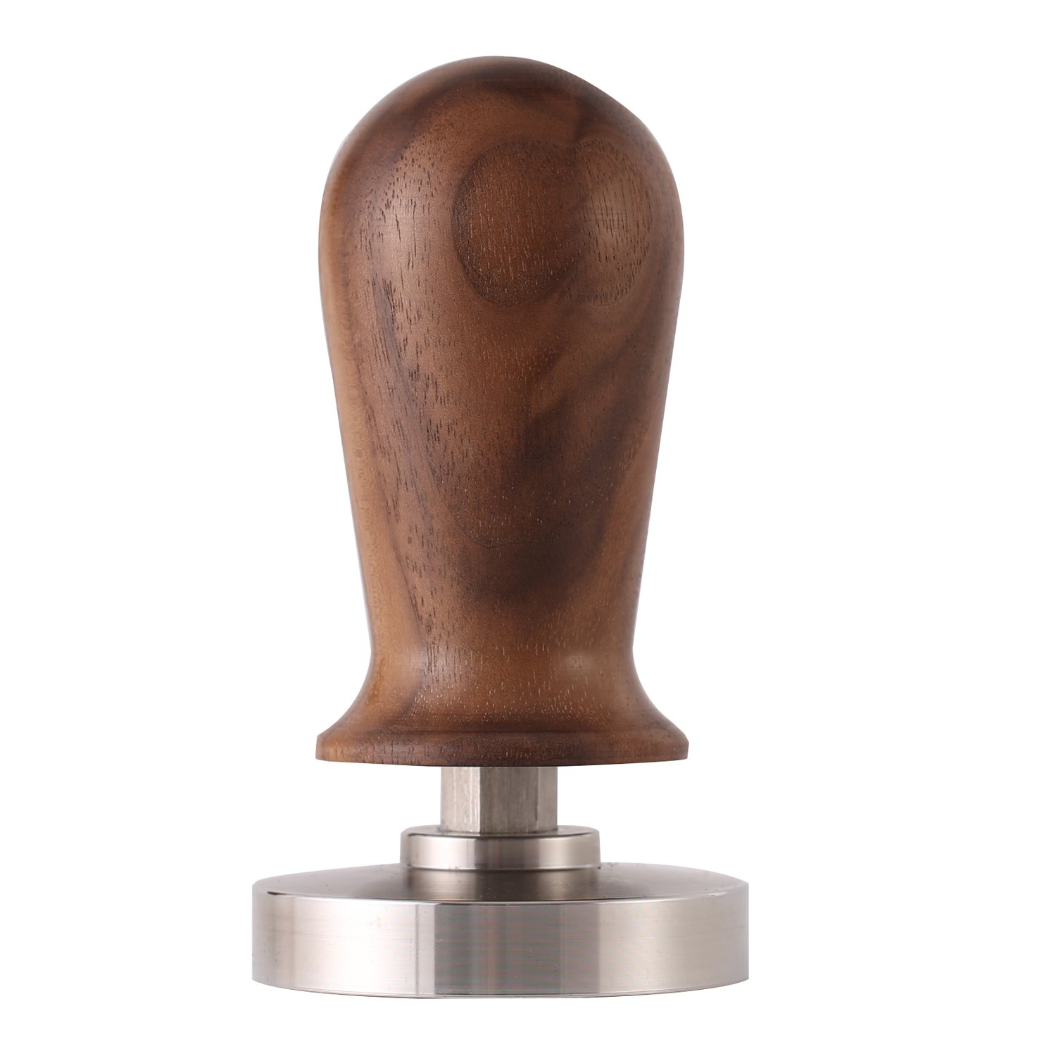 Espresso Coffee Tamper 54mm with Stainless Steel Flat Base and Black Walnut Handle by Dfamy