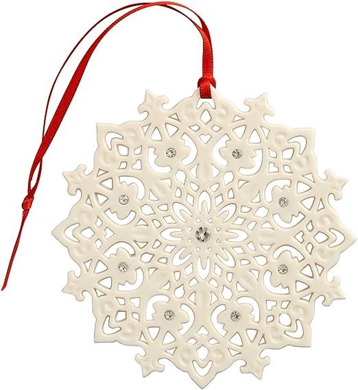 Belleek Lace Snowflake Ornament