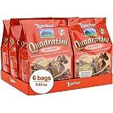 Loacker Quadratini Premium Hazelnut Wafer Cookies, 250g/8.82oz, pack of 6
