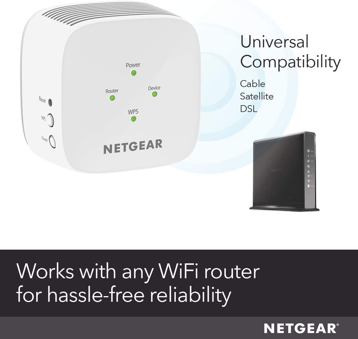 NETGEAR WiFi Range Extender EX2800 - Coverage up to 1200 sq.ft. and 20 Devices: Computers & Accessories