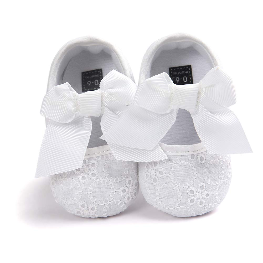 Yellow 11cm Alamana Lovely Bowknot Infant Baby Girl Princess Soft Sole Prewalker Toddler Shoes Gift