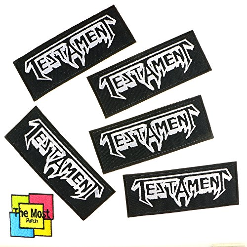 Lot Of 6  5 1  Testament American Thrash Metal Band From Berkeley California Embroidered Iron   Sew On Patch