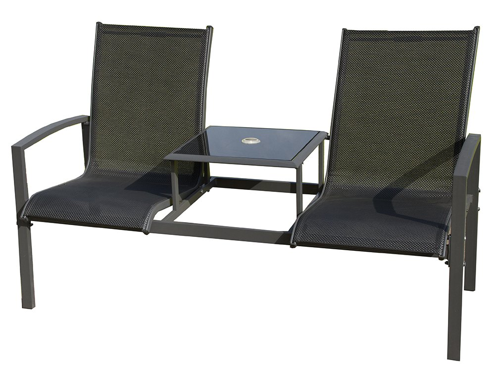 Royalcraft Black Companion Set - Textalyne Love Seat