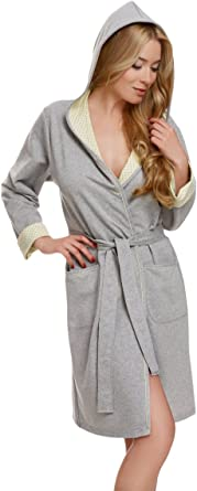 Italian Fashion IF Bata con Capucha Vestido de Casa Mujer Komfort