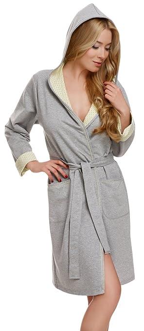Italian Fashion IF Bata para Mujer con Capucha Komfort: Amazon.es: Ropa y accesorios