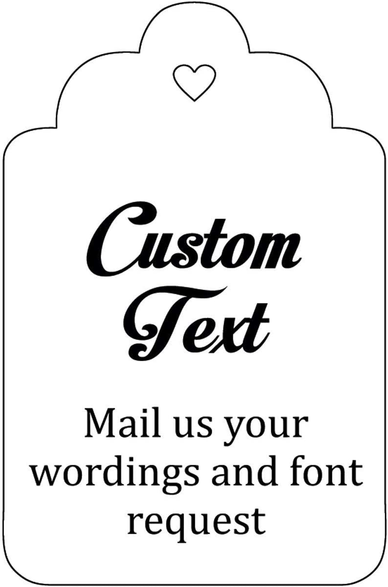 Rustic Thank You Party Tags Calligraphy Font Tags Personalized Kraft Brown Thank You Wedding Favor Hang Tags EC-009-KR