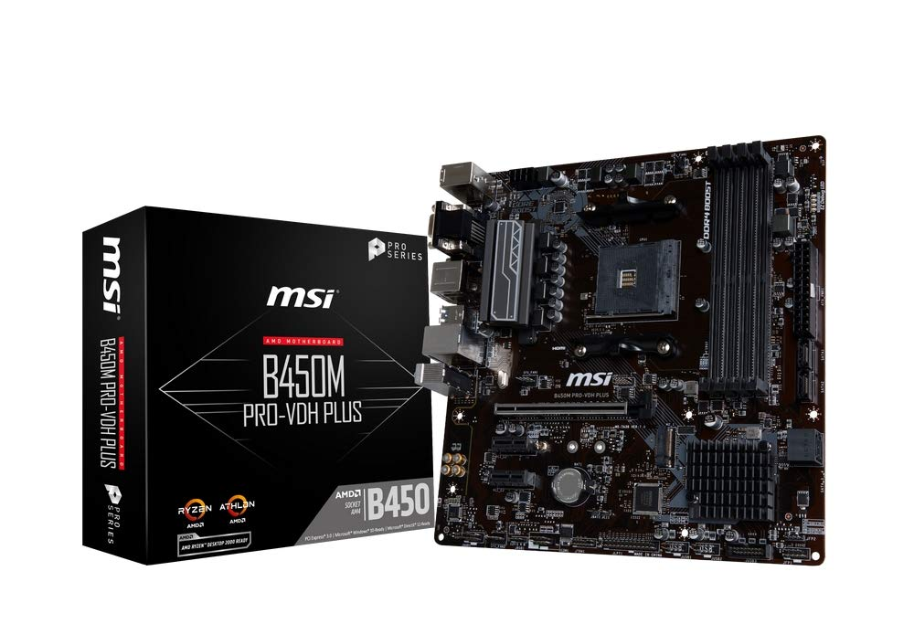 MSI B450M PRO-VDH PLUS scheda madre Presa AM4 AMD B450 Micro ATX