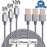 AOFU Lightning Cable,3Pack 3FT 6FT 10...