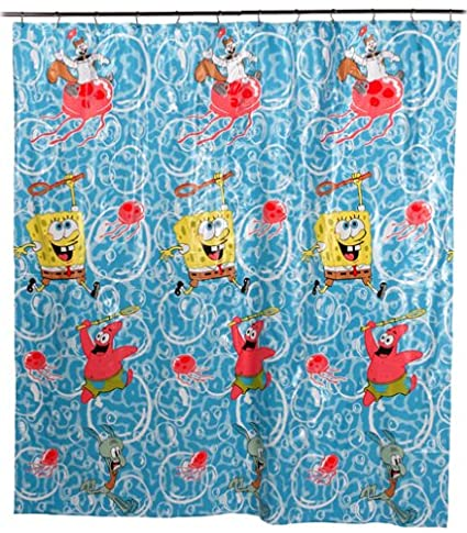 Amazon.com: SpongeBob SquarePants Shower Curtain: Home & Kitchen