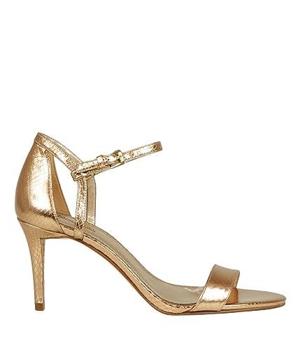 2f0dd763e37a0 Michael Kors Schuhe Sandaletten 40R8SMMA2M Simone Mid Sandal Größe 37 Gold